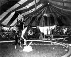 Linda Loter, Joanne Day on the single trapeze. Duke of Paducah Circus 1960. 1960,