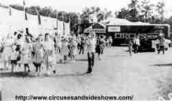 Duke of Paducah Circus midway 1960