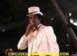 Franzen Bros Circus ringmaster
