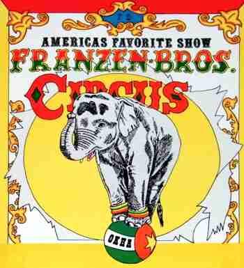 Franzen Bros Circus poster