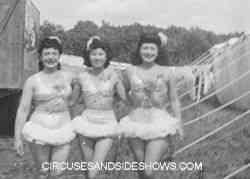 Circus performers Mills Bros Circus 1947