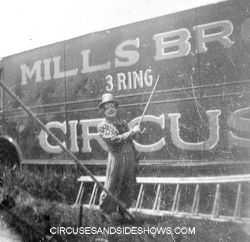 Mills Circus Clown