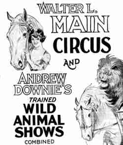 Walter L Main and Andrew Downie combined shows.