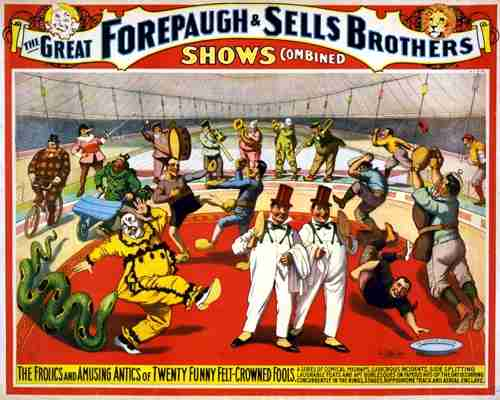 Adam Forepaugh and Sells Bros Circus