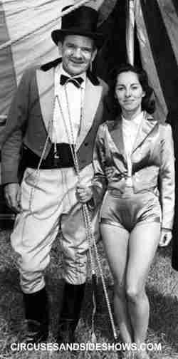 Barbara Fairchild with Ringmaster Roger Boyd