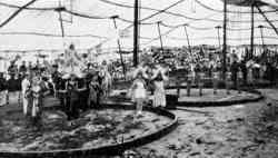Barnett Bros. Circus performers