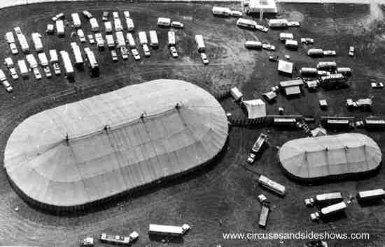 Clyde Beatty Cole Bros Circus Aerial Photo