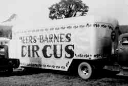 Beers and Barnes Circus truck