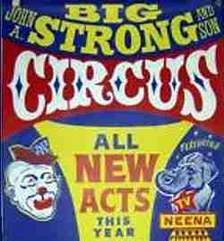 Big John Strong Circus Poster