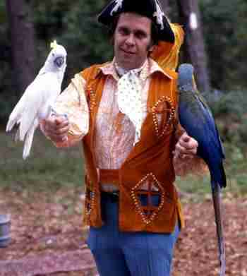 Billy Rodgers and his trained birds