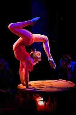 Circus Smirkus contortionist