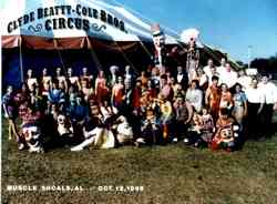 Clyde Beatty Cole Bros Circus group photo 1996