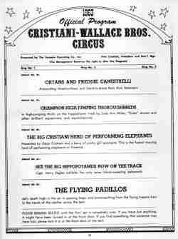 Cristiani Wallace Circus program 4