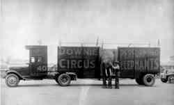 Doenie Bros Circus unloading elephant