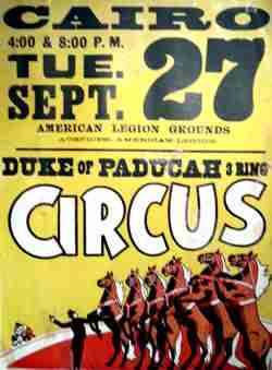 Duke of Paducah Circus Poater