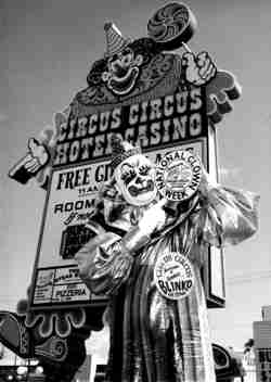 Ernie Blinko Burch at Circus Circus