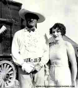 Esma Maley with Actor Tom Mix
