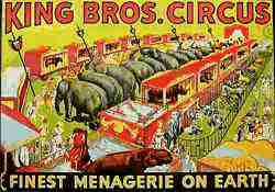 King Bros Circus Poster