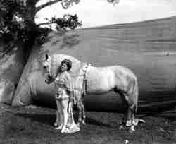 Ellen Bradna circus bareback rider