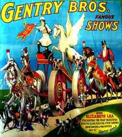 Gentry Bros Circus Poster