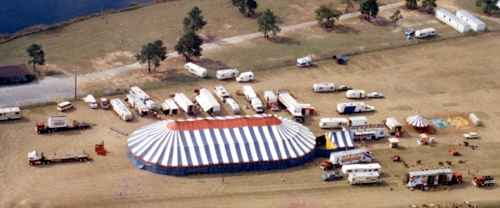 Great American Circus Aerial View