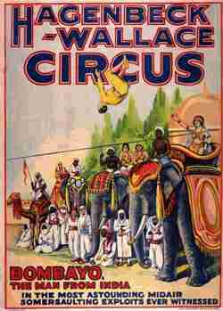 Hagenbeck and Wallace Circus Poster
