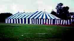 Hendricks Bros Circus big top on lot