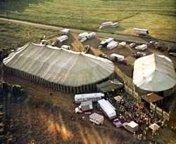 Hoxie Bros Circus aerial view 2