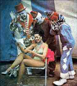 Clown Kenny Dodd on Clyde Cole Bros Circus