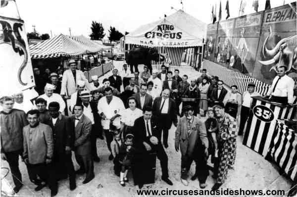 King Bros Circus 1962 Winter Tour