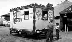 Lewis Bros. Circus ticket office