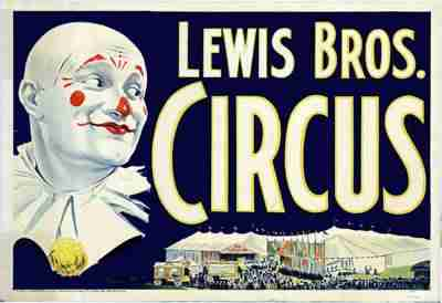 Lewis Bros. Circus Poster