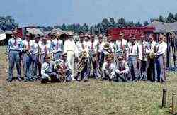 Merle Evans with the Ringling Bros. Barnum and Bailey Circus band.