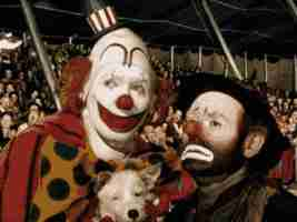 Jimmy Stewart and Emmett Kelly