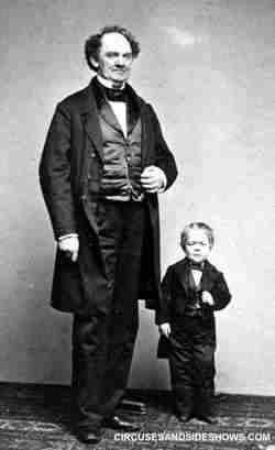 P. T. Barnum and Commodore Nutt