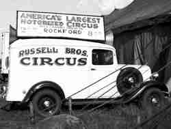 Russell Bros Circus sound car