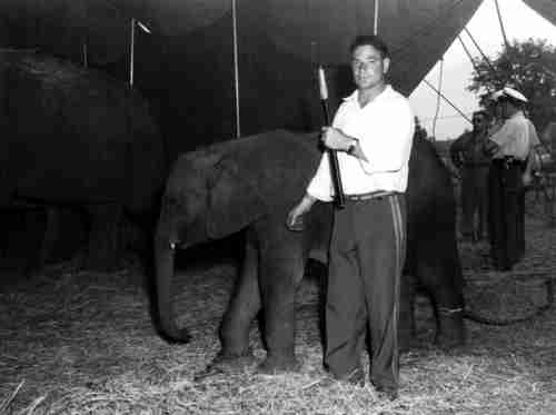 Smokey Jones and baby elephant