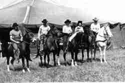 Circus cowboys Sparks Bros Circus