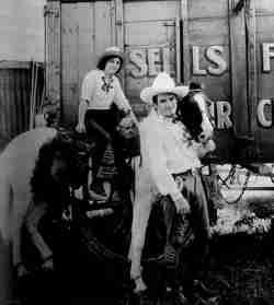 Western Star Tom Mix on Sella Floto Circus