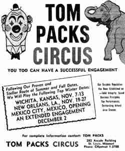 Tom Packs Circus ad
